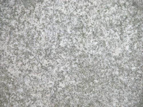 Плита постамента. Северная сторона. Виден белый мелко-, среднезернистый мрамор, проявленное на нем отшелушивание и налеты биологического происхождения. Фото ноября 2003 г.