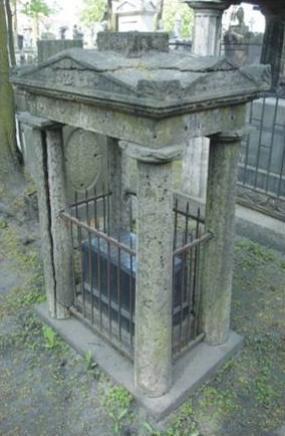 Сень-портик из четырех колонн. Фотография и карта форм разрушения плитчатого известняка.