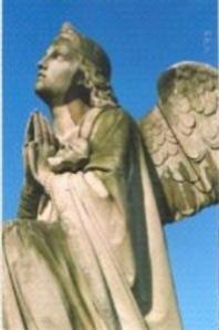 Фрагмент скульптуры ангела. Фотография и карта форм разрушения мрамора