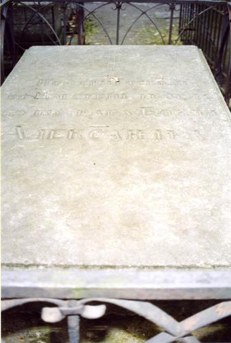 Крышка саркофага. Виден налет из атмосферных грязевых отложений. Фото ноября 2003 г.